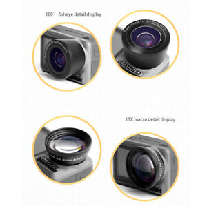 Fisheye Lens Macro Lens Replacement Parts For DJI OSMO ACTION Sports Camera