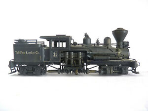 HO - United PFM -  2-Truck Class B Shay - Brass - repowered with can motor