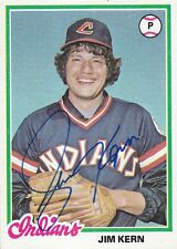 Jim Kern 1978 Topps #253 Cleveland Indians SIGNED CARD AUTOGRAPHED