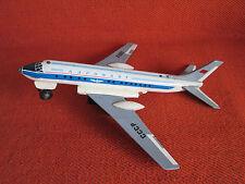 Vintage jet Big tin toy USSR air plane tupolev Tu-124 Aeroflot Battery TU-104