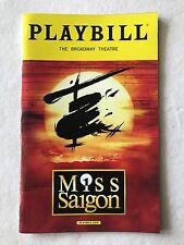 Miss Saigon PlayBill May 2017 OBC Eva Noblezada Jon Jon Briones Alistair Brammer
