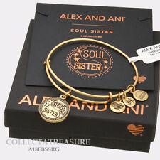 Authentic Alex and Ani Soul Sister (ii) Rafaelian Gold Expandable Charm Bangle