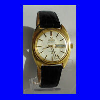 Stunning14k Gold Retro Omega Constellation Day-Date Wrist Watch 1975