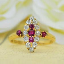VICTORIAN 18CT GOLD RUBY AND DIAMOND RING