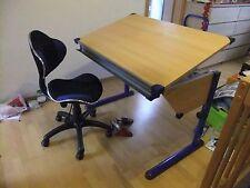 Kettler Schreibtisch Jugendschreibtisch verstellbar Holz Metall anklappbar mitwa