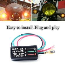 Flasher Blinker Relay Turn Signal Light for Motorcycle ATV Universal 12V 3-Pin