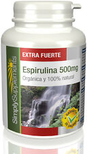 Espirulina 500mg   Natural 100% 60 Cápsulas