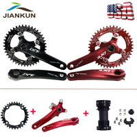 1Set MTB Bike Crankset 104bcd 170mm Crank Left & Right Arm Narrow Wide Chainring
