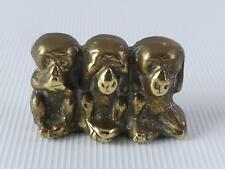 (ref165ES 55) Small brass monkey paperweight