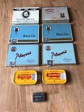 9 Tobacco Tins- Players Black Cat Senior Service Erinmore Nigroids Sweet Caporal