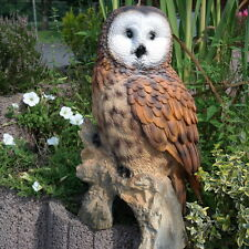 Dekofigur große Eule Uhu Kauz Gartenfigur Tierfigur Schrebergarten Terrasse