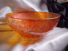 Vintage Marigold Carnival Glass Dogwood Bowl