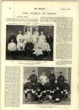 1899 Oxford Cambridge University Association SQUADRE SIGNOR Graham Murray CICLISMO