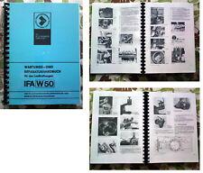 W 50 REPARATURHANDBUCH IFA W50  L60 IFA L 60 ROBUR mit Ersatzteilkatalog