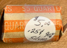 OLD $5.00 ROLL OF WASHINGTON QUARTERS --- 90% SILVER --- 20 US MINT COINS