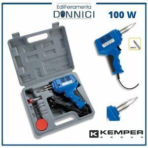 KEMPER Saldatore a stagno istantaneo elettrico 100W kit professionale valigetta