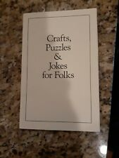 Crafts, Puzzles & Jokes For Folks Booklet 1998 M1