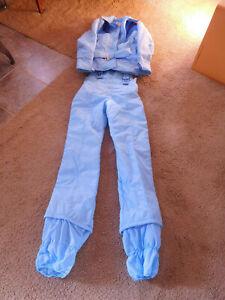 Vintage Ski Suit MOUNT TREMBLANT 2 Pc,Powder Blue ~ 10 Petite~ NICE~ FREE SHIP~