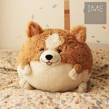 Welsh Corgi Cute Dog Soft Toy Stuffed Cushion Pillow Plushie Really Fat 18cm
