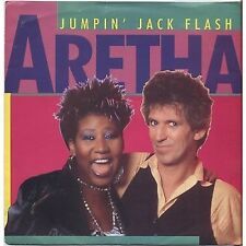 "ARETHA FRANKLIN - Jumpin' Jack flash - KEITH RICHARD VINYL 7"" 45 RPM 1986"