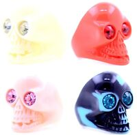 Vintage punk biker goth style resin skull ring multiple choices