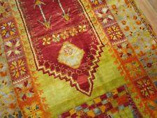 Antique Rare Turkish Melas Prayer Rug Size 4'7''x10'2'