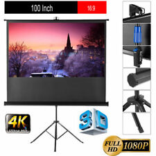 100'' 16:9 1080P Hd Video Projector Projection Screen For Home Office+Tripod Us