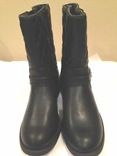 """Dana Buchman  New Quilted Leather Boot 2.75"""" Heel Size 6.5M"""