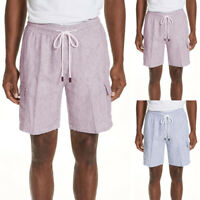 Mens Fashion Beach Striped Shorts Board Surf Swim Pants Trunks Drawstring Shorts