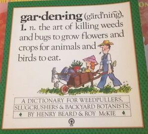GAR-DEN-ING HILARIOUS LOOK AT GARDENING - BEARD, Funny Garden Dictionary,Pb Book