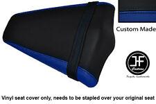 ROYAL BLUE BLACK VINYL CUSTOM FITS HONDA CB 1000 R 08-13 REAR PILLION SEAT COVER