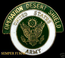 OPERATION DESERT SHIELD 1990-1991 US ARMY JEWELRY HAT LAPEL PIN IRAQ STORM GIFT