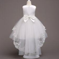 US STOCK ! Flower Girl Dress Princess Formal Graduation Bridesmaid Gown B2