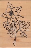 """flower holly berry Wood Mounted Rubber Stamp  2 1/2x 4""""  Free Shipping"""
