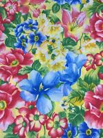 """Floral Pattern Fabric Beautiful Colors Fabric 45"""" wide by the Yard"""