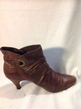 Steve Madden Brown Ankle Leather Boots Size 5.5Uk