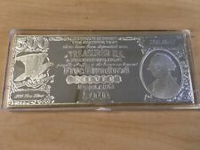 "$500 Note currency style ""Half Pound"" 8 troy oz .999 silver bar"