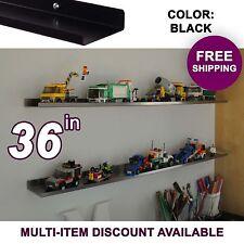 """36"""" ultraLEDGE Black LEGO Display / Shelf"""