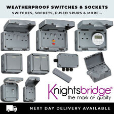 KNIGHTSBRIDGE OUTDOOR WATERPROOF IP65 SOCKETS SWITCHES FAST FREE POSTAGE