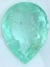 18.73 CT GENUINE NATURAL Colombian PEAR SHAPE EMERALD 22mmx16mm