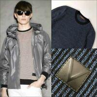 Louis Vuitton LV Men Campaign Blue Black Pullover Jumper Sweater Sweatshirt Sz M