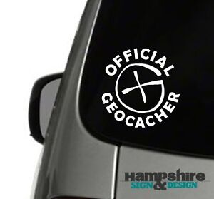 Official Geocacher Geocaching Vinyl Car Window Sticker Decal