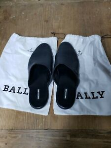 Bally Mens Leather Size 11 Nigetti Slippers, Black