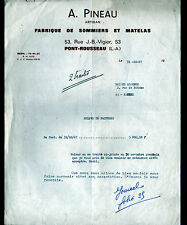"""PONT-ROUSSEAU (44) Artisan MATELASSIER / SOMMIER & MATELAS """"A. PINEAU"""" en 1967"""