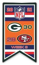 2021 Semaine 3 Bannière Broche NFL Vert Bay Vs. San Francisco 49er's Super Bol