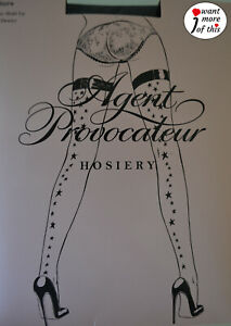 Wolford Agent Provocateur Stars Sterne Limited Edition Stay Up Hosiery black