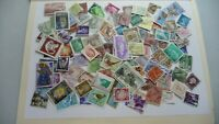 1949           lot 100 timbres seconds plusieurs pays
