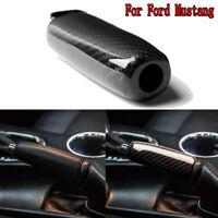 Carbon Fiber Car Console Handbrake Decotative Trim For Ford Mustang MKVI 2015-19