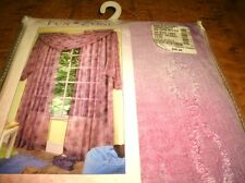 """FUN ZONE SCARF VALANCE PANEL-ONE LILAC SCARF VALANCE 40"""" X 144""""- NEW - SEALED -"""