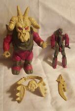 """1988 Skullgrin Pretender DECEPTICON G1 Transformers 7.20"""" SWORD BELT SHELL INNER"""